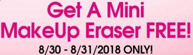 Get A Mini Makeup Eraser FREE